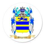 Gregersen Round Car Magnet