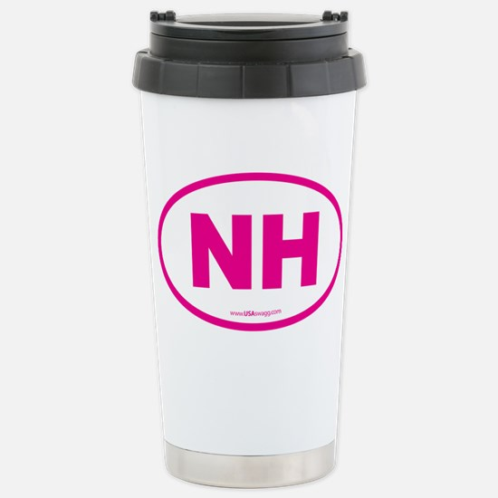 New Hampshire NH Euro O Stainless Steel Travel Mug