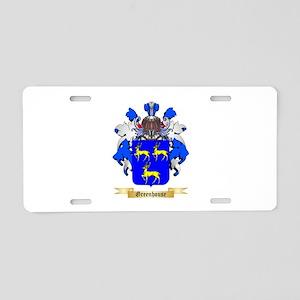 Greenhouse Aluminum License Plate