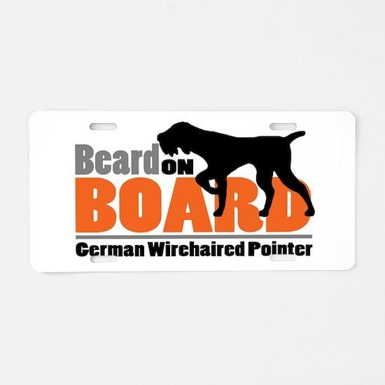 Beard on Board - GWP Aluminum License Plate