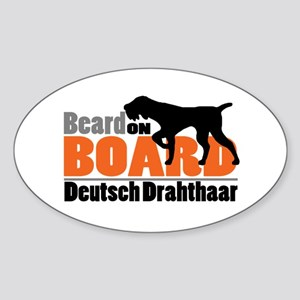 Beard on Board - DD Sticker (Oval)