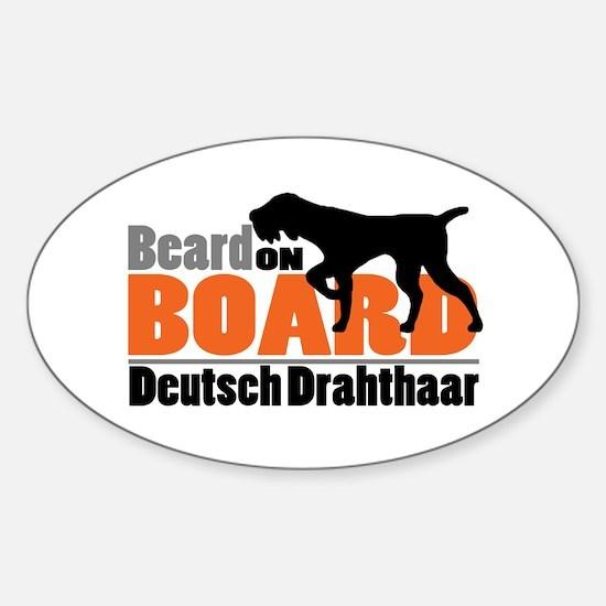 Beard on Board - DD Sticker (Oval)