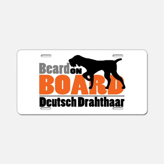 Beard on Board - DD Aluminum License Plate