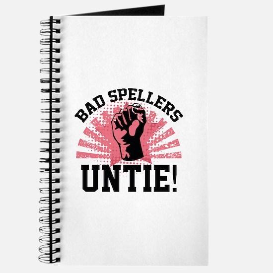 Bad Spellers Untie! Journal