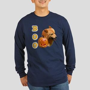 Finnish Spitz Boo Long Sleeve Dark T-Shirt