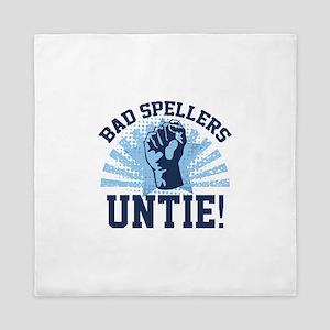 Bad Spellers Untie! Queen Duvet