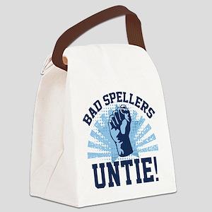 Bad Spellers Untie! Canvas Lunch Bag