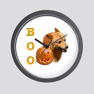 Finnish Spitz Boo Wall Clock