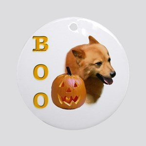 Finnish Spitz Boo Ornament (Round)