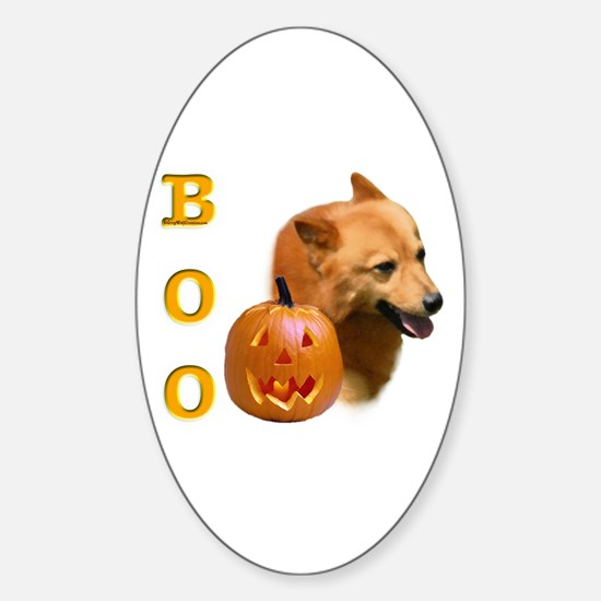 Finnish Spitz Boo Oval Decal