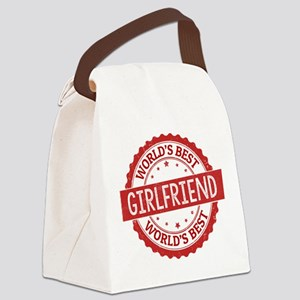 World's Best Girlfriend Canvas Lunch Bag