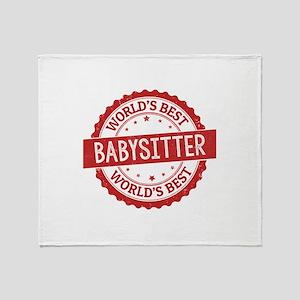 World's Best Babysitter Throw Blanket