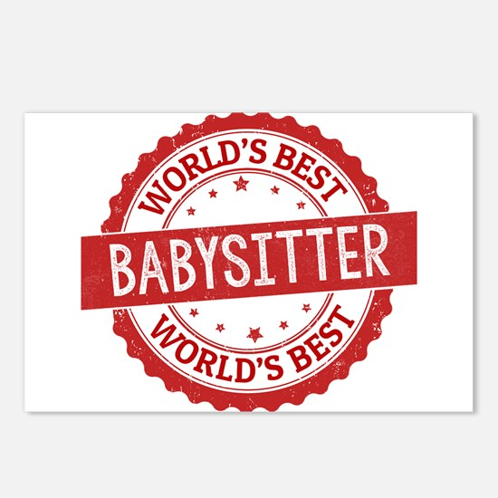 World's Best Babysitter Postcards (Package of 8)
