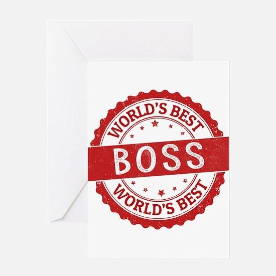 World's Best Boss Greeting Cards