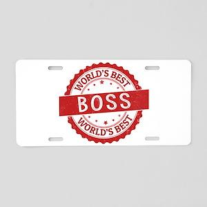 World's Best Boss Aluminum License Plate