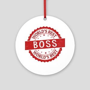 World's Best Boss Ornament (Round)