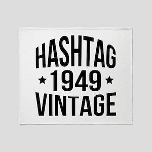 1949 Hashtag Vintage Throw Blanket