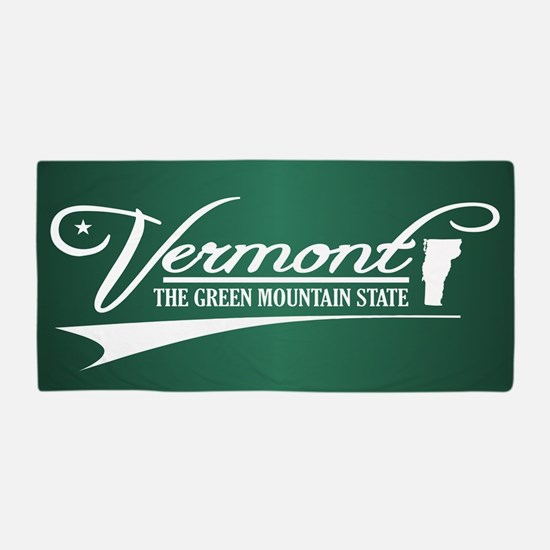 Vermont State of Mine Beach Towel