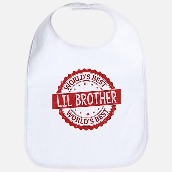World's Best Lil Brother Bib