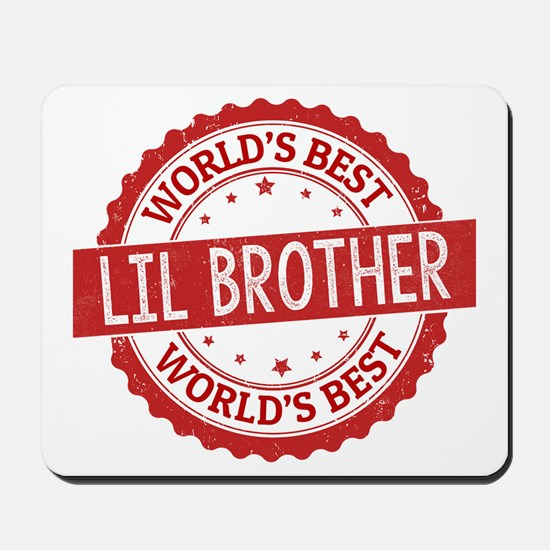 World's Best Lil Brother Mousepad