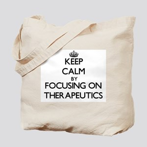 Keep Calm by focusing on Therapeutics Tote Bag