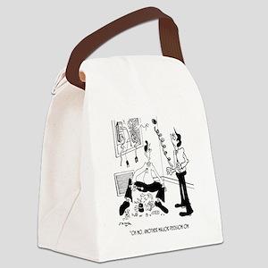 HVAC Cartoon 7590 Canvas Lunch Bag