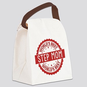 World's Best Step Mom Canvas Lunch Bag