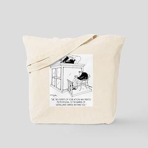 Crime Cartoon 7348 Tote Bag