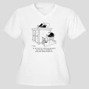 Crime Cartoon 734 Women's Plus Size V-Neck T-Shirt
