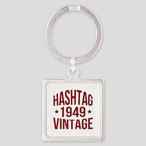 1949 Hashtag Vintage Square Keychain