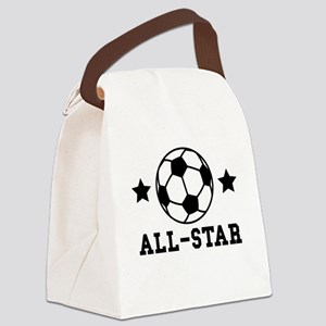 Soccer All Star Canvas Lunch Bag