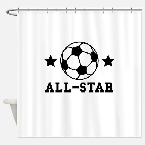 Soccer All Star Shower Curtain