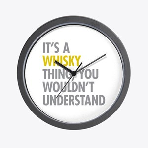 Its A Whisky Thing Wall Clock