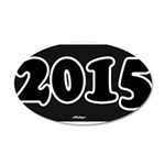 2015 License Plate Decal Wall Sticker
