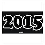 2015 License Plate Square Car Magnet 3