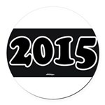 2015 License Plate Round Car Magnet
