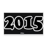 2015 License Plate Rectangle Car Magnet