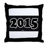 2015 License Plate Throw Pillow