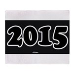2015 License Plate Throw Blanket