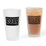 2015 License Plate Drinking Glass