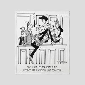 Jury Cartoon 4657 Throw Blanket