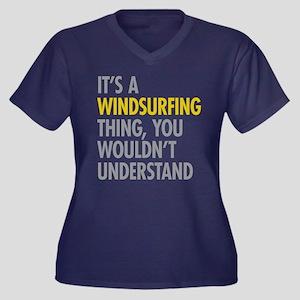 Its A Windsu Women's Plus Size V-Neck Dark T-Shirt