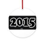 2015 License Plate Ornament (Round)