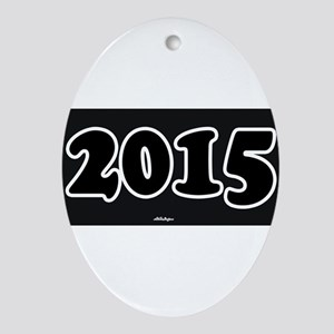 2015 License Plate Ornament (Oval)