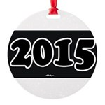 2015 License Plate Round Ornament