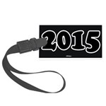 2015 License Plate Large Luggage Tag
