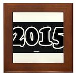 2015 License Plate Framed Tile