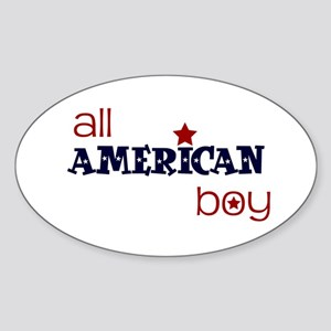 all american boy Oval Sticker