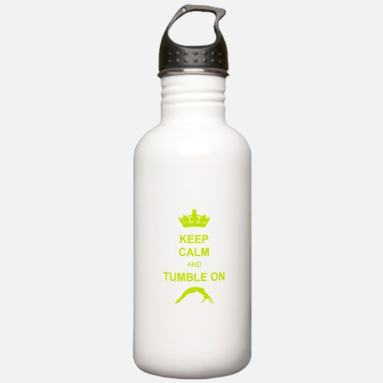 keep calm and tumble on Water Bottle