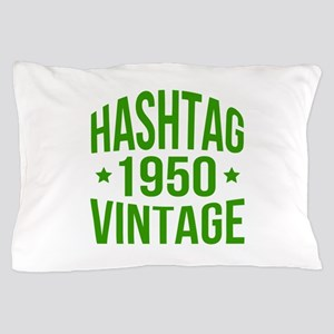 1950 Hashtag Vintage Pillow Case